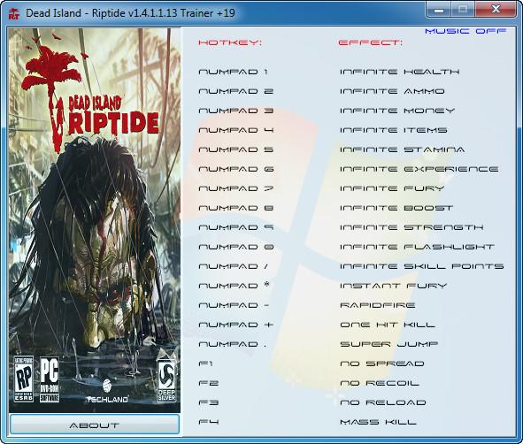 Dead island riptide v1 4 1 plus 19 trainer grizzly for Bureau xcom declassified trainer