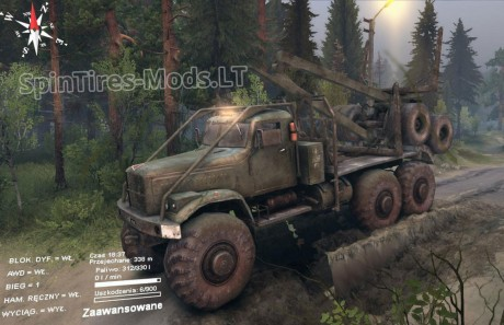 "Spintires 2014 ""Краз монстр"""