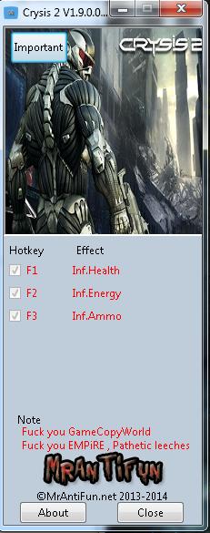 Скачать На Crysis 2 Трейнер - фото 6