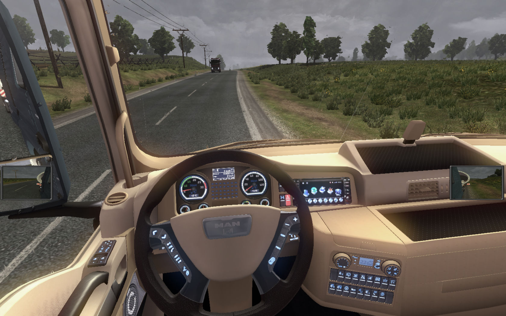 Euro truck simulator 2 man interior lux for Interior design simulator