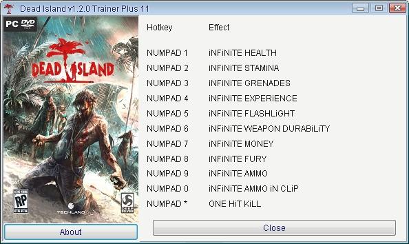 Dead island: трейнер/trainer (+25) [all versions: 1. 1. 0/1. 2. 0/1. 3.