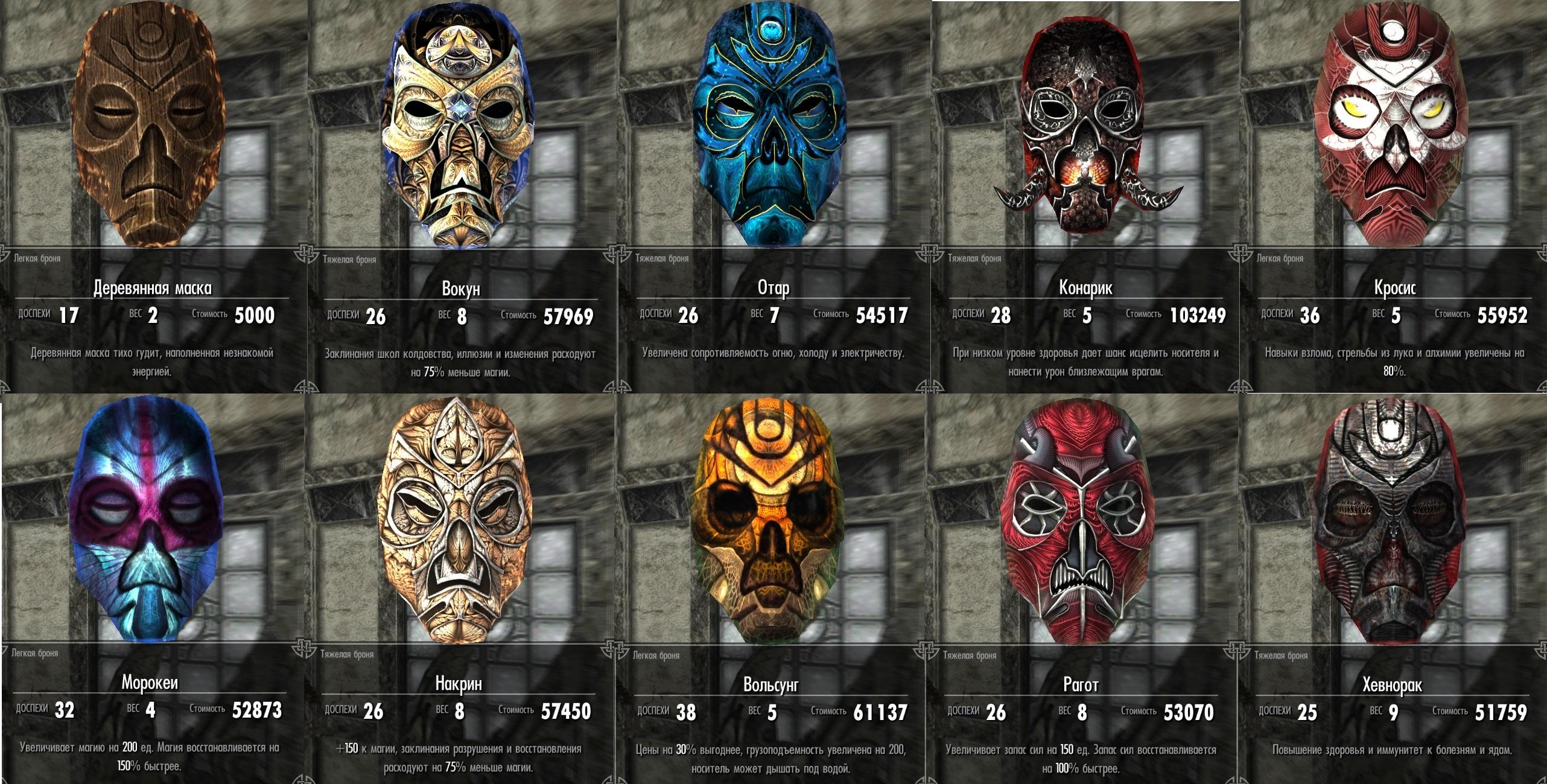 Скачать мод могущественные маски драконьих жрецов
