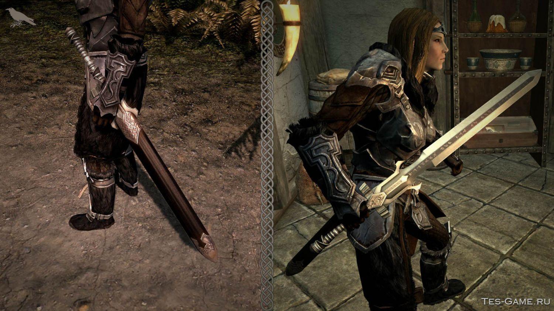 The elder scrolls скачать мод на мечи