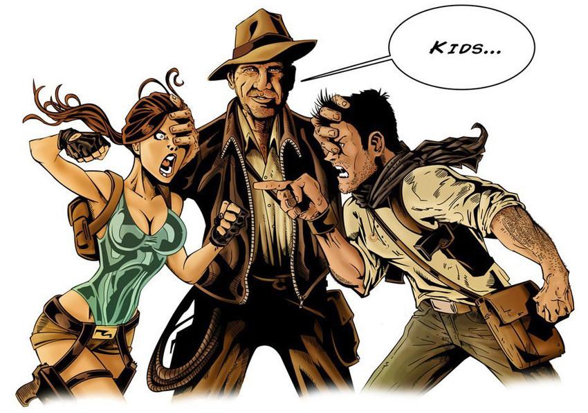 Lara Croft And Nathan Drake: Lara Croft And Nathan Drake Cosplay : Gaming