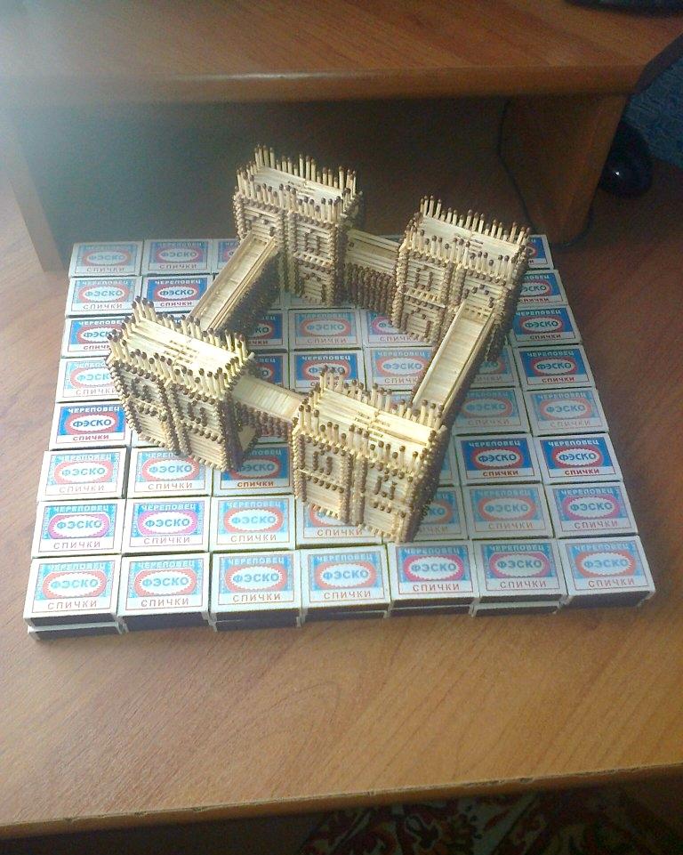 Как сделать дом из коробков из под спичек - Vendservice.ru