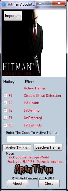 скачать трейнер для Hitman - фото 2