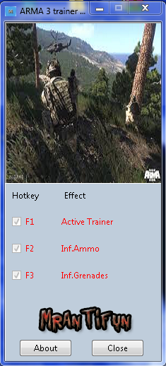 Screens Zimmer 4 angezeig: arma iii trainer