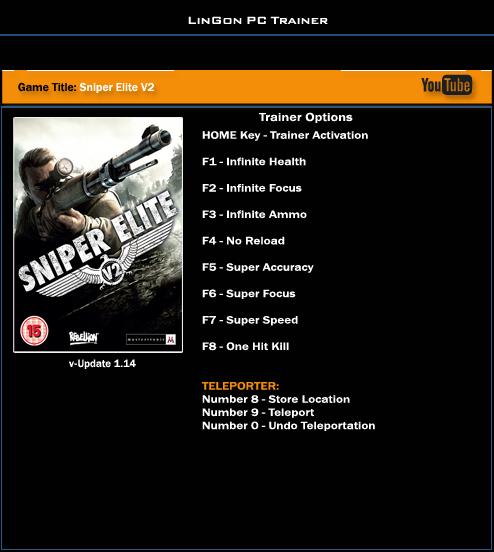 Sniper Elite 4 Скачать Трейнер - фото 9