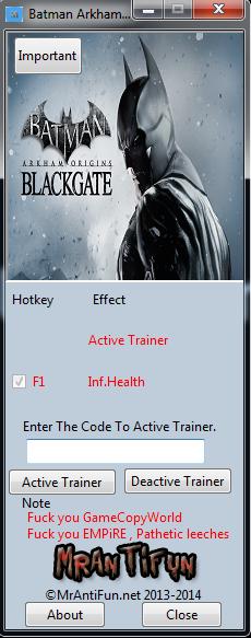 Get the batman arkham origins v1. 4 8 trainer for free download.
