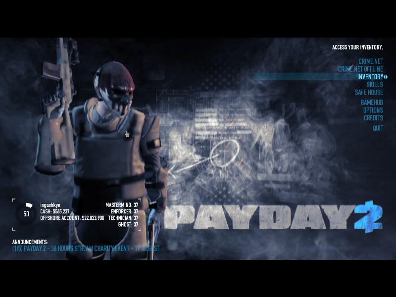 скачать моды на payday 2 на маски