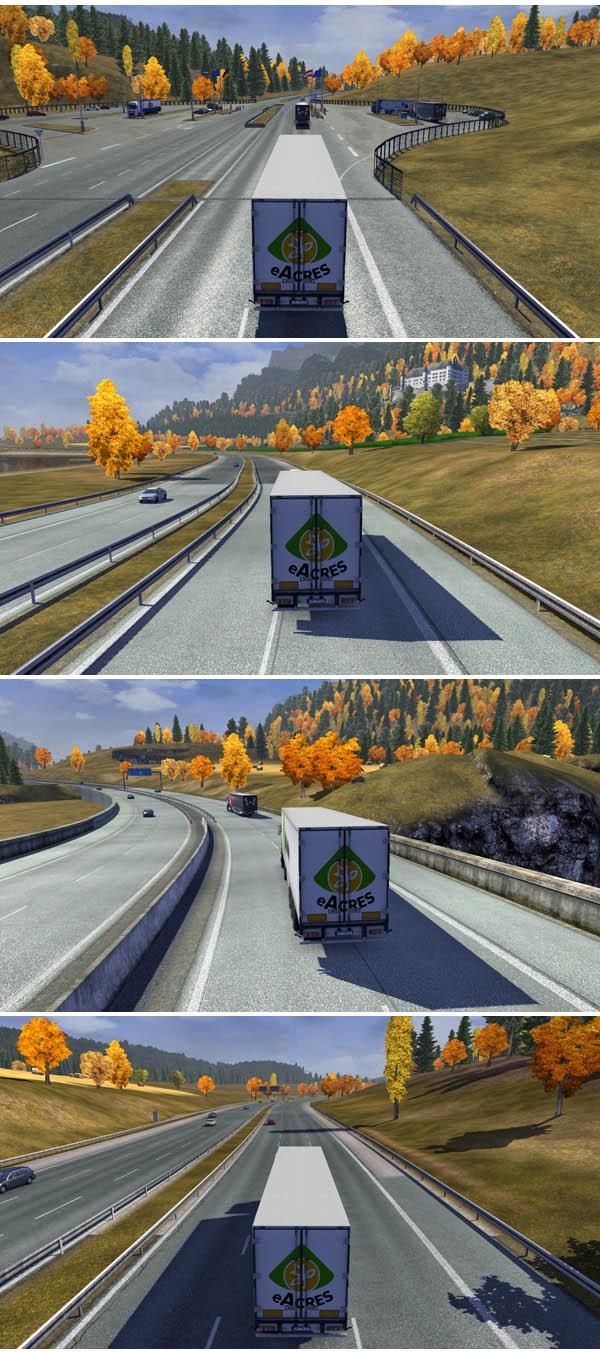 скачать мод для euro truck simulator 2 на осень