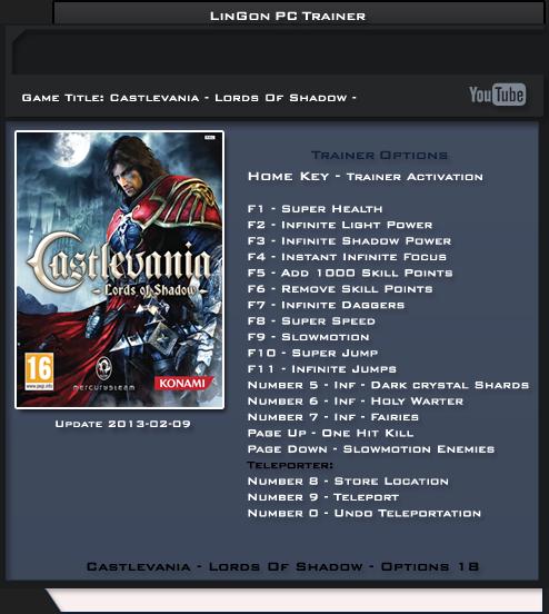 трейнер скачать Castlevania Lords Of Shadow 2 - фото 3