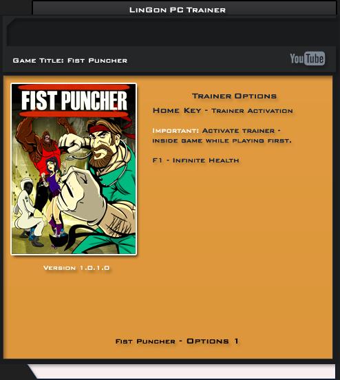 Fist Puncher v1.0.1.0 Trainer +1 [LinGon]