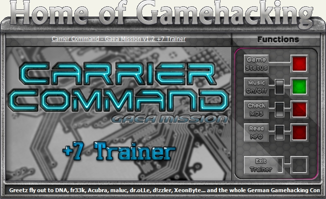 Carrier Command Gaea Mission v1.6.0011 +6 Trainer [HOG]