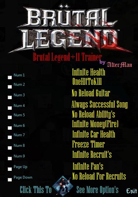 Screens Zimmer 2 angezeig: brutal legend trainer