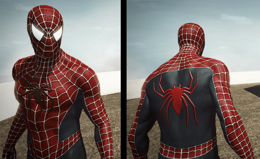 Черный человек паук обои