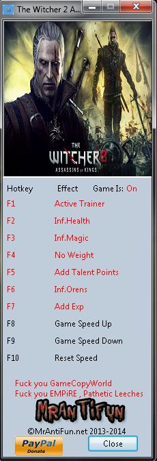 Скачать Трейнер Для Witcher 2 - фото 3