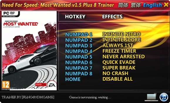 need for speed most wanted mega trainer pc free