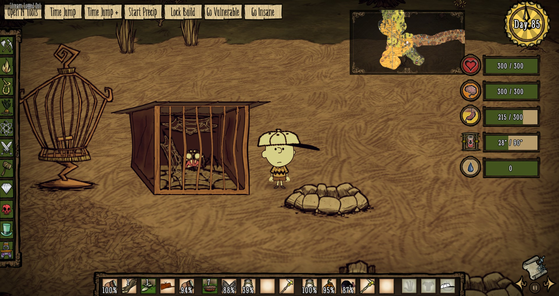 скачать мод always on status для dont starve together