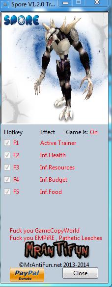 скачать трейнер для игры Spore - фото 6