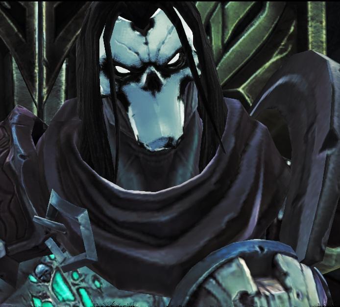 лицо смерти из darksiders 2 без маски