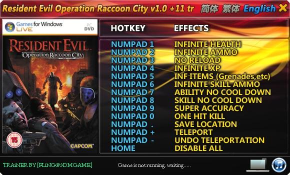 resident evil 5 trainer download
