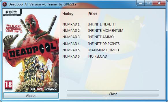 скачать трейнер для Deadpool - фото 4