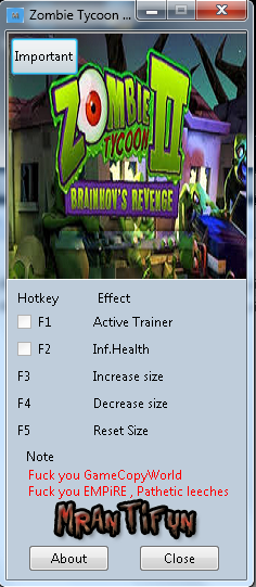 Zombie Tycoon 2 v1.0 32/64 Bit Trainer +3 [MrAntiFun]