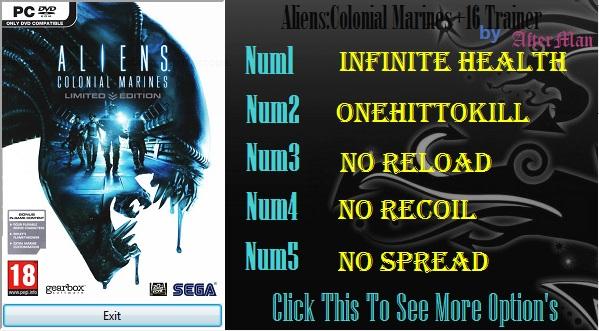 Чит коды aliens colonial marines