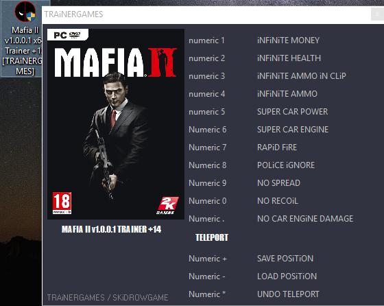 Mafia 2: трейнер/trainer (+6) [1. 01] {24k} читы чит коды, nocd.