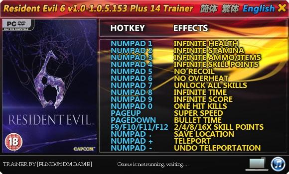 Скачать трейнер на игру resident evil 6