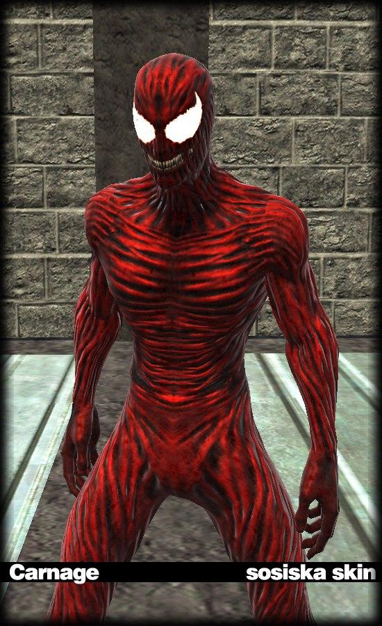 "Spider-Man: Web of Shadows ""Classic Carnage Sosiska Skin ..."
