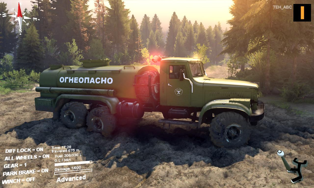 "Spint ires 2014 ""КрАЗ 255Б Aц-8,5 ""Огнеопасно"" v1.0 Fixed."""