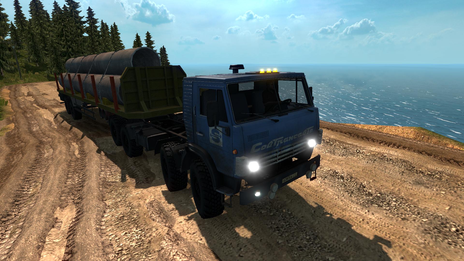 Euro truck simulator 2 скачать мод карта суровая россия. Байкал.