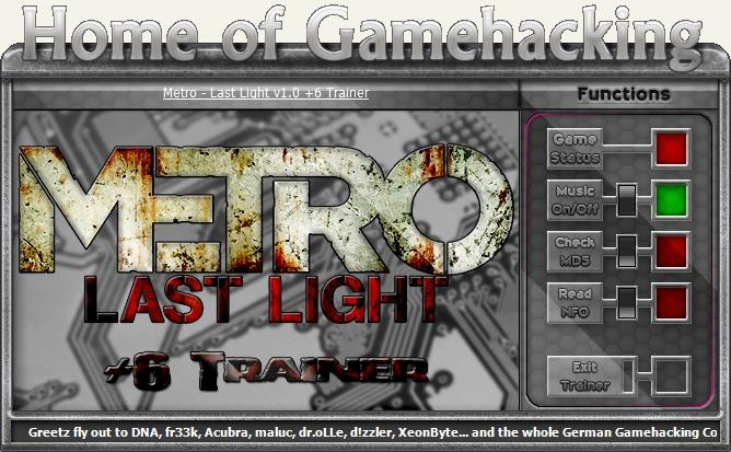 Metro 2033 redux: трейнер/trainer (+17) [update 2] {aleksander d.