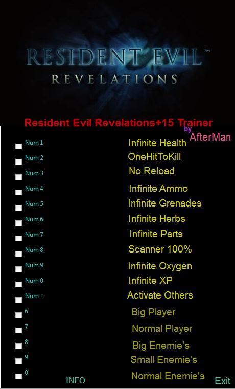 resident evil revelation trainer
