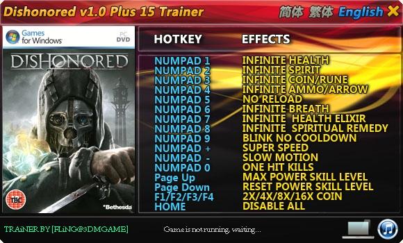 скачать трейнер на Dishonored Game Of The Year Edition - фото 6