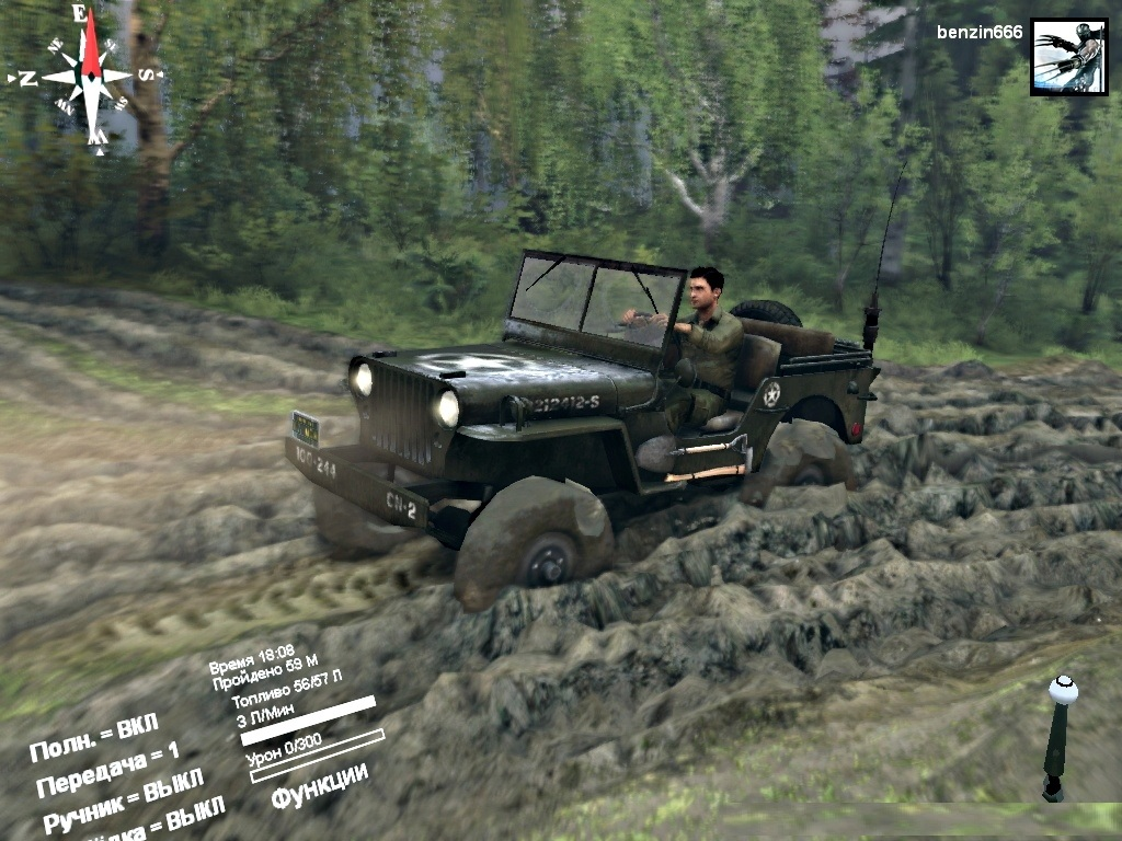 "Spintires ""Мод ""Jeep Willys"""