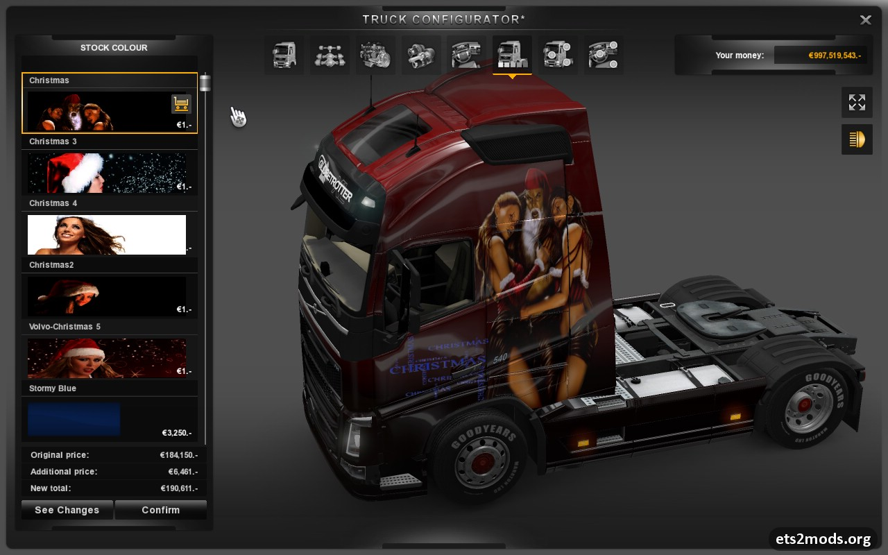 SCANIA T RJL LOVELY SWIRLS SKIN | ETS2 mods | Euro truck
