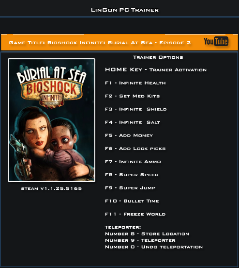 Bioshock 1 Скачать Трейнер Для