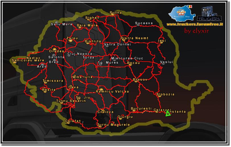 euro truck simulator 2 romanian map. Black Bedroom Furniture Sets. Home Design Ideas