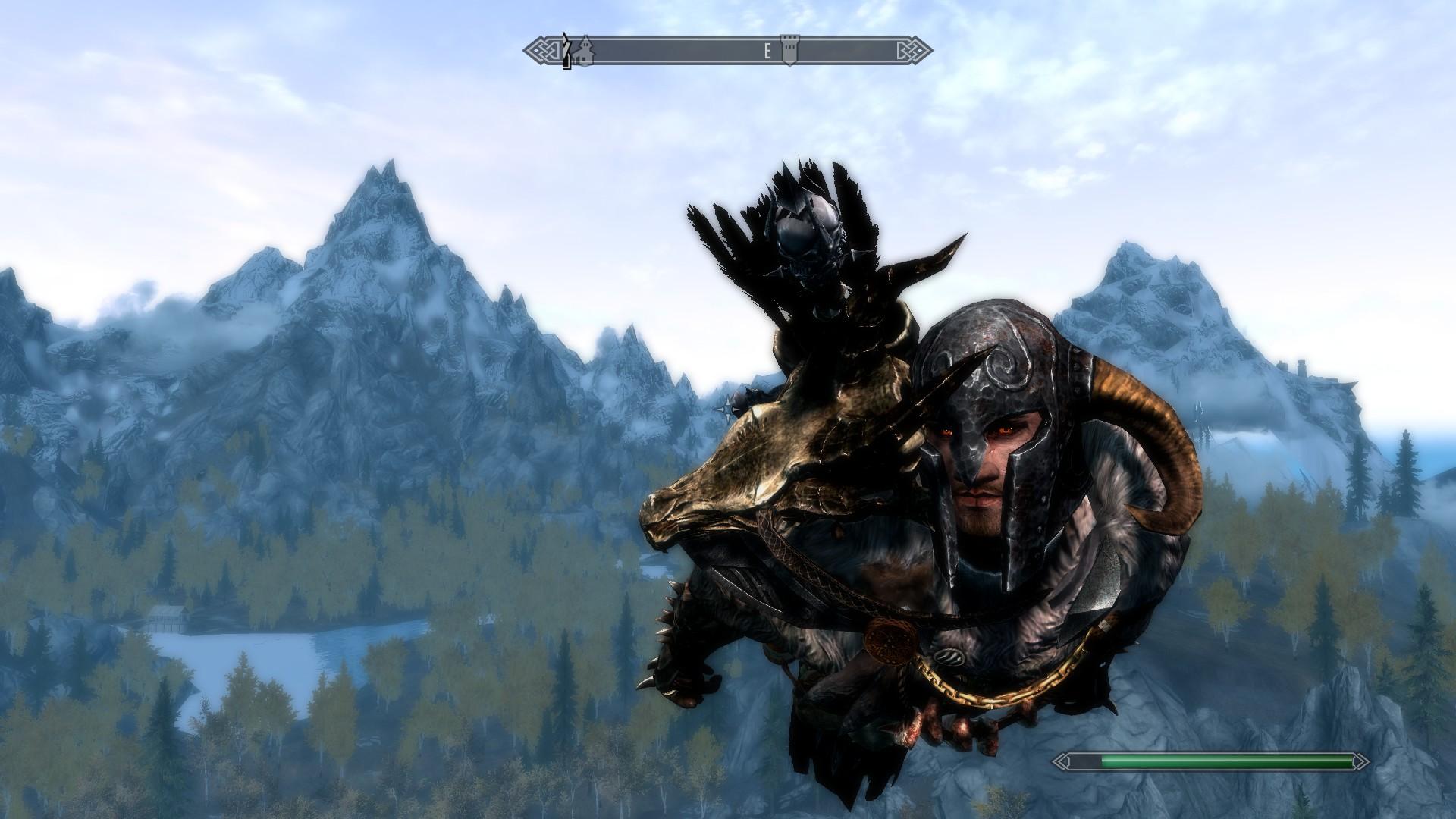 Мод скайрим скачать на полет на драконе