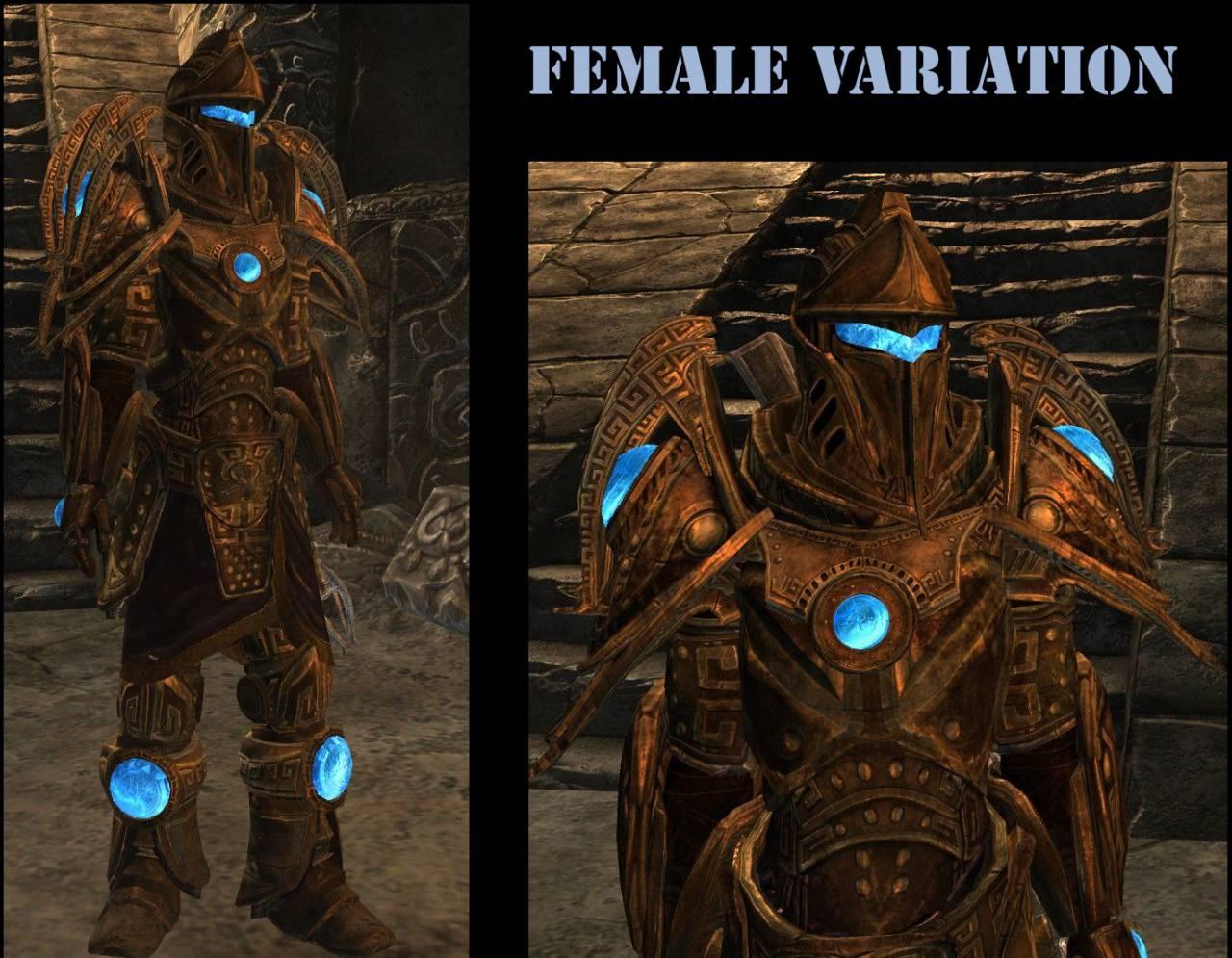 Мод на твомерскую женскую секси броню в скайриме