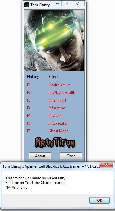 скачать трейнер на игру Splinter Cell Blacklist - фото 6