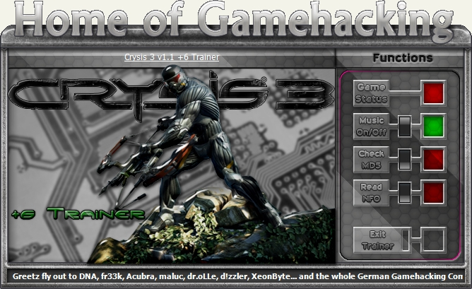 Скачать Трейнер на Crysis 3