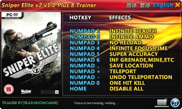 Скачать трейнер для sniper elite 2
