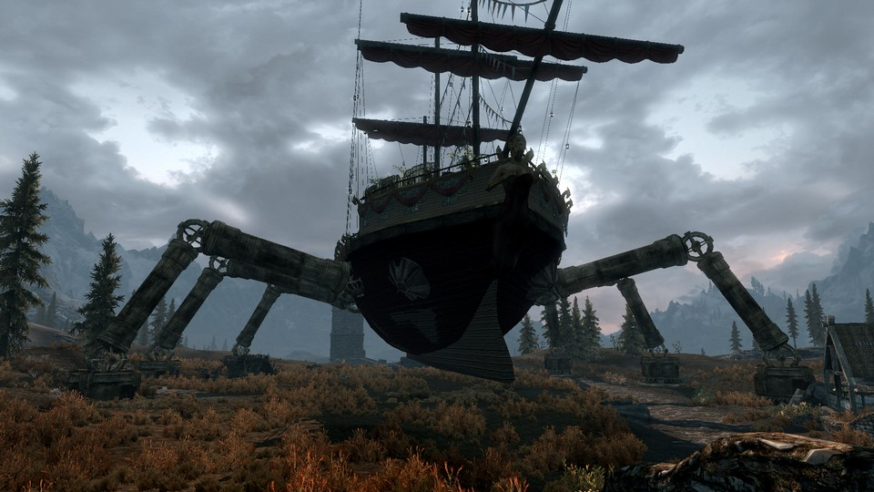 скачать моды на скайрим 5 на корабль