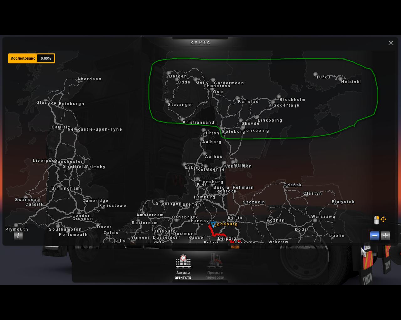 """""""ProMods V1.5 (Christmas Edition) - Карта Скандинавии + Франция 1_(2)-6"""