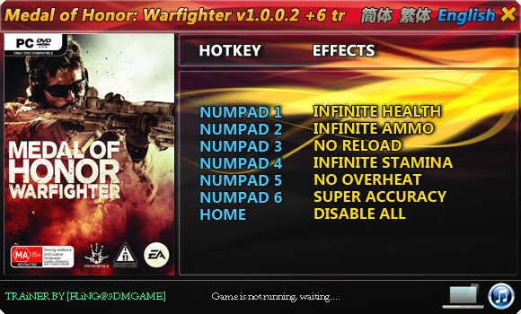 Screens Zimmer 7 angezeig: medal of honor 2010 trainer