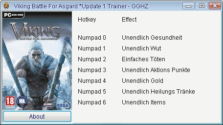 Screens Zimmer 7 angezeig: viking battle for asgard trainer